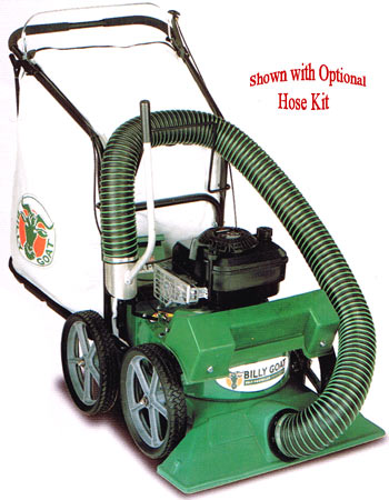 "Billy Goat self propelled lawn vacuum with 2"" chipper"