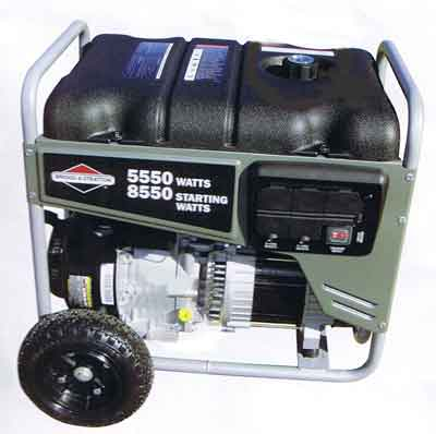 New York, Vermont Briggs & Stratton 5500 Watt Generator