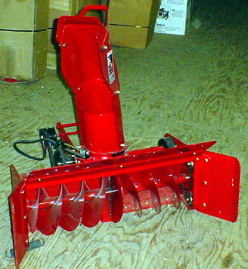 "toro 400xt garden tractor 42"" Single stage snow thrower"
