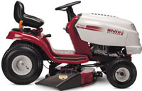 white lt 542 h lawntractor rider lawnmower tractor