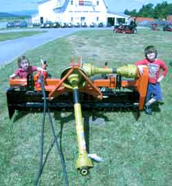 Vermont, New York, York Power Rake 3-point hitch landscape power rake