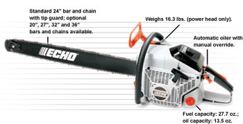 "New York, Vermont,  VT, NY,  Echo CS-8000 Chainsaw with 20"" bar and chain"