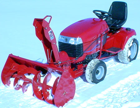 "toro 5xi garden tractor 44"" Two stage snow thrower"