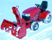 "toro 400 Series Garden Tractor attachments 44"" snow blower attachment"