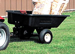toro 400 Series Garden Tractor attachments 10 cu ft poly dumpcart